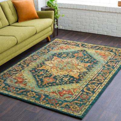 Macael Teal 9 ft. x 13 ft. Area Rug