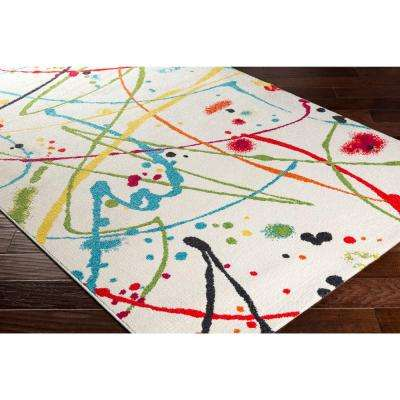 Pippy Frost White 5 ft. x 8 ft. Indoor Area Rug