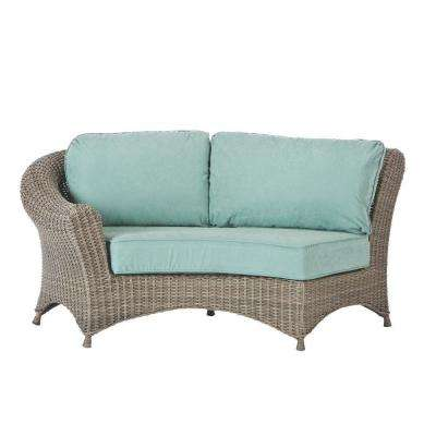 Lake Adela Left Arm Patio Sectional Chair with Surf Cushions