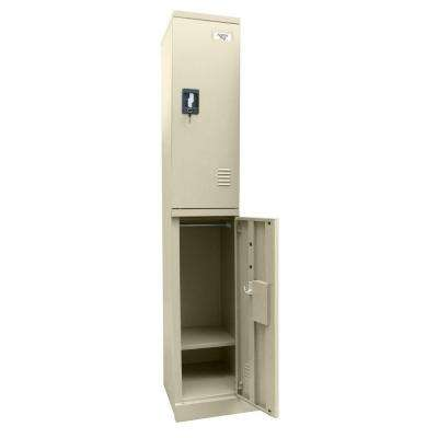 72 in. H x 12 in. W x 18 in. D Quick Assembly Double Tier Locker in Putty