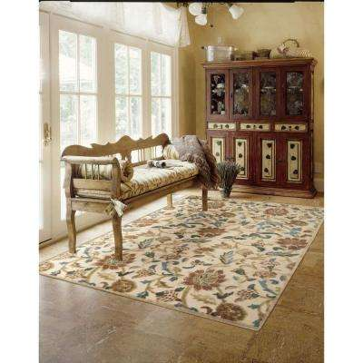 Graphic Illusions Light Gold 2 ft. x 8 ft. Runner Rug