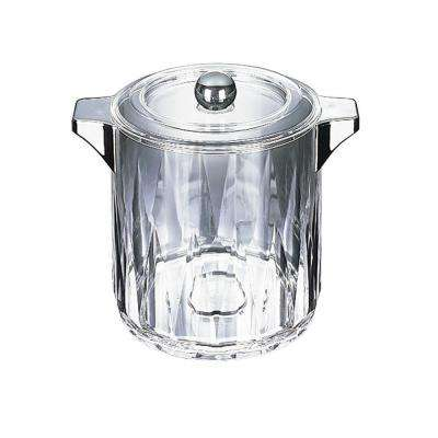 4.5 qt. Diamond Cut Ice Bucket/Wine Chiller with handles and Lid in Clear with Chrome Handles (Case of 6)