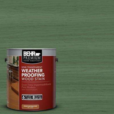1-gal. #ST-126 Woodland Green Semi-Transparent Weatherproofing Wood Stain