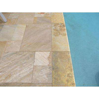 Riviera 12 in. x 24 in. Brushed Travertine Pool Coping (15 Piece / 30 Sq. ft. / Pallet)