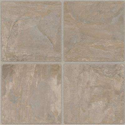 12 in. x 12 in. Chiseled Stone Cliffstone 6 in. Paver Res. Peel and Stick Vinyl Tile (45 sq. ft. / case)