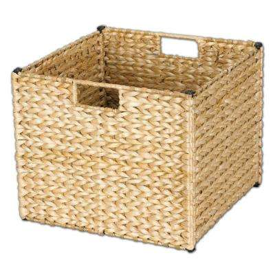 13 in. x 13 in. Natural Banana Leaf Storage Bin