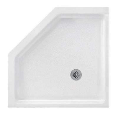 38 in. x 38 in. Solid Surface Single Threshold Shower Floor in White
