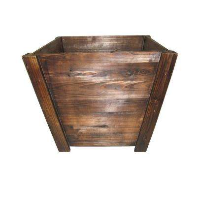 16 in. Dark Flame Tapered Wood Planter (3-Case)