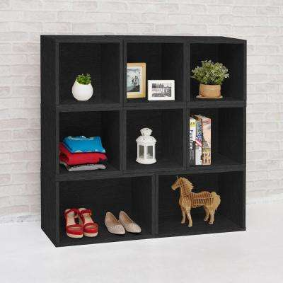 Blox System Milan Black Stackable Modular Open Bookcase