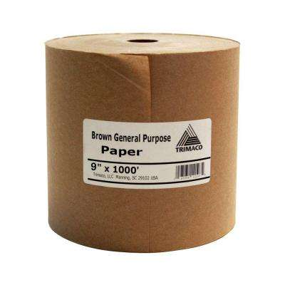 9 in. x 1000 ft. Brown Masking Paper