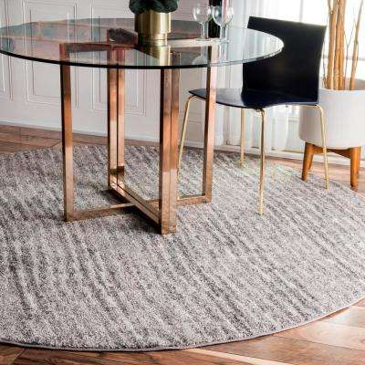 Sherill Grey 8 ft. x 8 ft. Round Area Rug