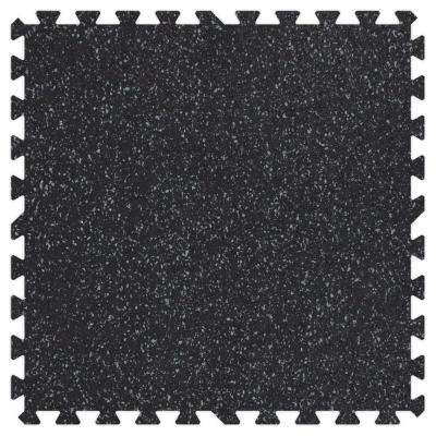 Grey Speck 24 in. x 24 in. Rubber Comfortable Mat (48 sq.ft. / Case)