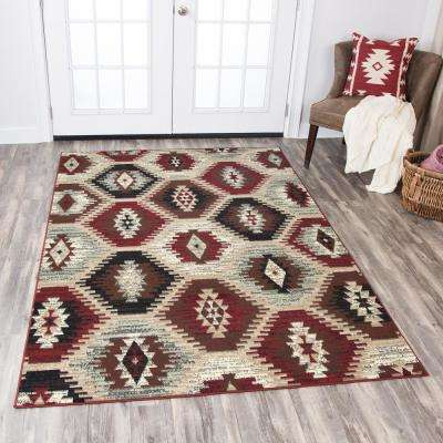 Xcite Multicolor 8 ft. x 10 ft. Rectangle Area Rug