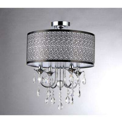 Shane 4-Light Chrome Flush Mount