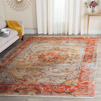 Vintage Persian Saffron/Cream 5 ft. x 7 ft. 6 in. Area Rug