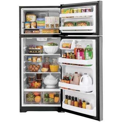 16.6 cu. ft. Top Freezer Refrigerator in Stainless Steel