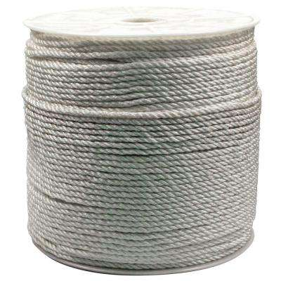 1/4 in. x 1200 ft. Twisted Nylon Rope White