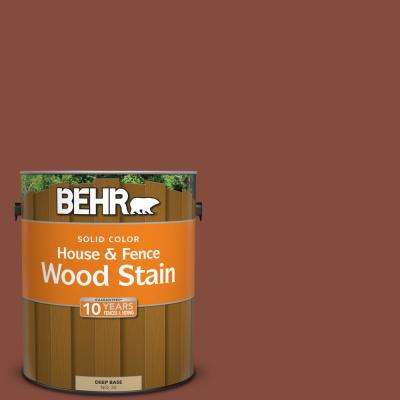 1 gal. #S160-7 Red Chipotle Solid House and Fence Wood Stain