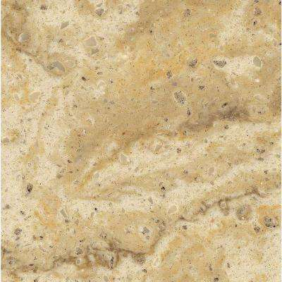 2 in. Solid Surface Countertop Sample in Burled Beach