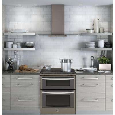 Profile 30 in. Convertible Chimney Range Hood in Slate, Fingerprint Resistant