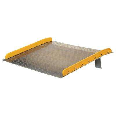 15,000 lb. Capacity 72 in. x 48 in. Aluminum Dock Board with Steel Curb