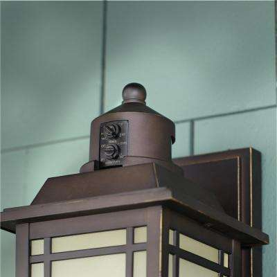 Port Oxford 1-Light Oil-Rubbed Chestnut Outdoor Motion Sensor Wall Lantern Sconce