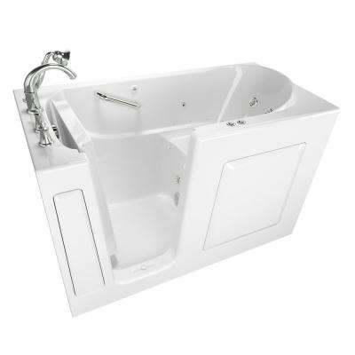 Exclusive Series 60 in. x 30 in. Walk-In Whirlpool and Air Bath Tub with Quick Drain in White