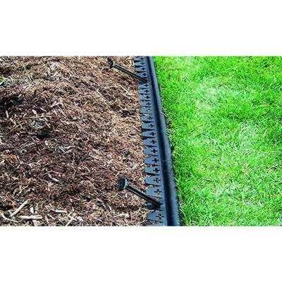 Easy Diamond Ground 20 ft. L x 3 in. W x 1 in. H Black Polypropylene Lawn Edging