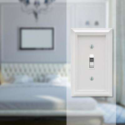 Deerfield 1 Gang Toggle Composite Wall Plate - White