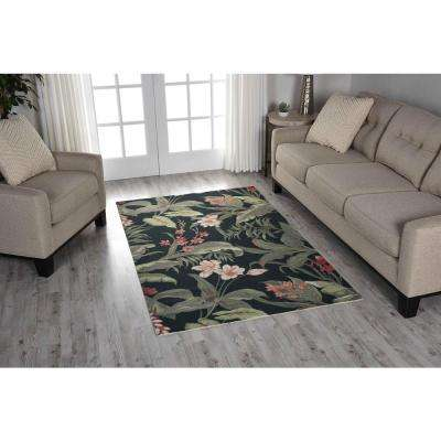 Wilea Black 4 ft. x 7 ft. Indoor/Outdoor Area Rug