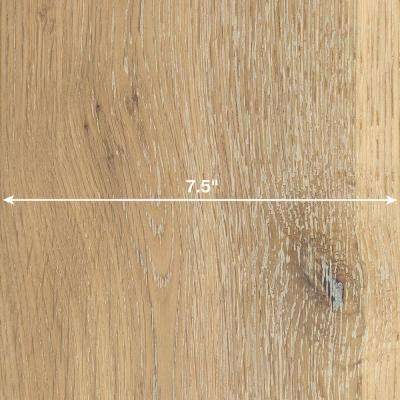 Wire Brushed White Oak 3/8 in. x 7-1/2 in. Wide x 74-3/4 in. Length Click Lock Hardwood Flooring (30.92 sq. ft. / case)