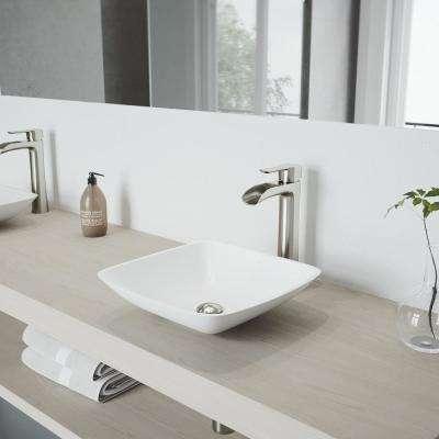 Niko Single Hole Single-Handle Vessel Bathroom Faucet in Brushed Nickel