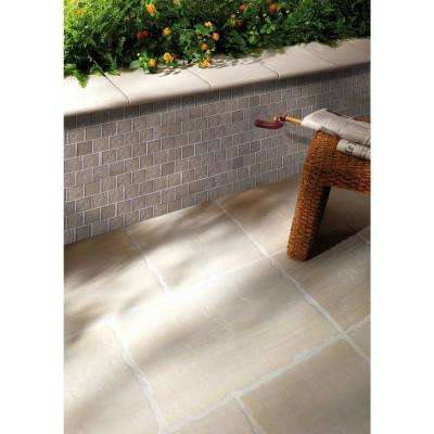 Landscape Grand Canyon Bronze Linear Mosaic 2 in. x 2 in. Textured Glass Wall Pool and Floor Tile (1.04 Sq. ft.)