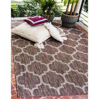 Outdoor Trellis Brown 9' 0 x 12' 0 Area Rug