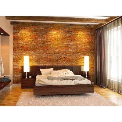 3D Retro 16/1000 in. x 38 in. x 19 1/2 in. Brown PVC Wall Panel