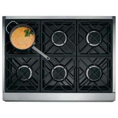 Cafe 36 in. Gas Cooktop in Stainless Steel with 6 Sealed Burners