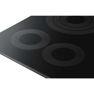 36 in. Radiant Electric Cooktop in Fingerprint Resistant Black Stainless Steel with 5 Elements and Wi-Fi