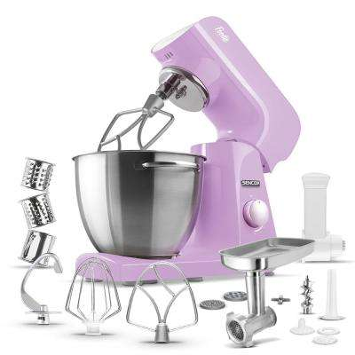 Robust Full-Metal Body with Metal Gears Stand Mixer in Pastel Violet