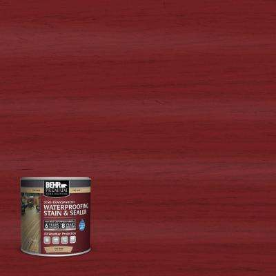 8 oz. #ST112 Barn Red Semi-Transparent Waterproofing Stain and Sealer Sample