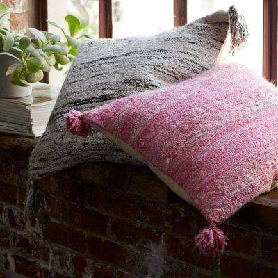 Woven Striped 20 in. x 20 in. Pillow Cover