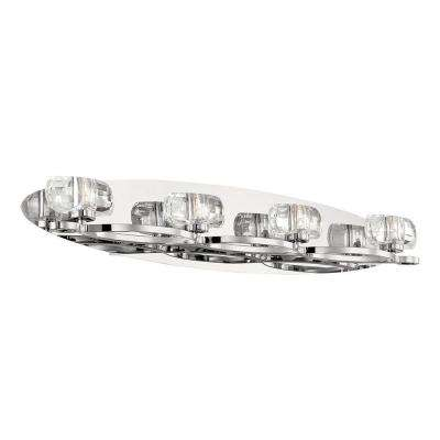 Buca Collection 4-Light Chrome and Clear Bath Light