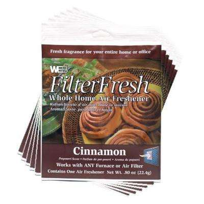 Filter Fresh Cinnamon Air Fresheners for Air Filters (6-Pack)
