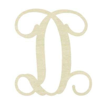 19.5 in. Unfinished Single Vine Monogram (D)
