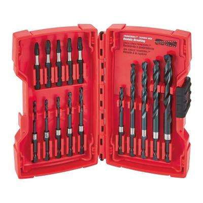 SHOCKWAVE Drilling and Driving Bit Set (15-Piece)