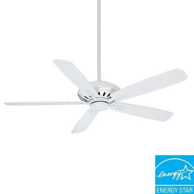 Holliston DC 60 in. Snow White Ceiling Fan-DISCONTINUED