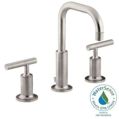 Purist 8 in. Widespread 2-Handle Water-Saving Bathroom Faucet in Vibrant Brushed Nickel