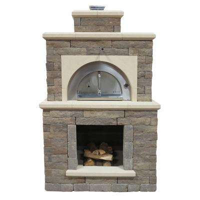 54.5 in. x 44 in. x 94.38 in. Concrete Avondale Outdoor Brick Oven