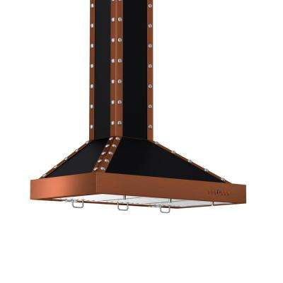 ZLINE 36 in. 760 CFM Wall Mount Range Hood in Black and Copper Finish
