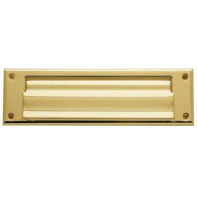 0017 Letter Box Plate Lifetime in Polished Brass