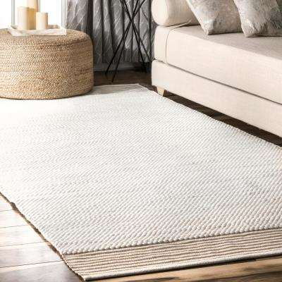 Ariana Solid Ivory 5 ft. x 8 ft.  Area Rug